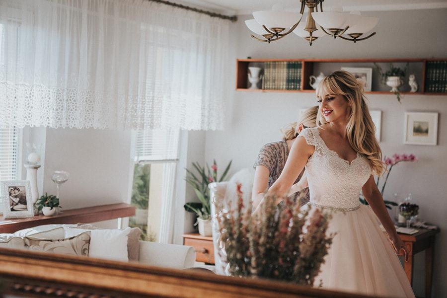 Przygotowania w dniu ślubu
